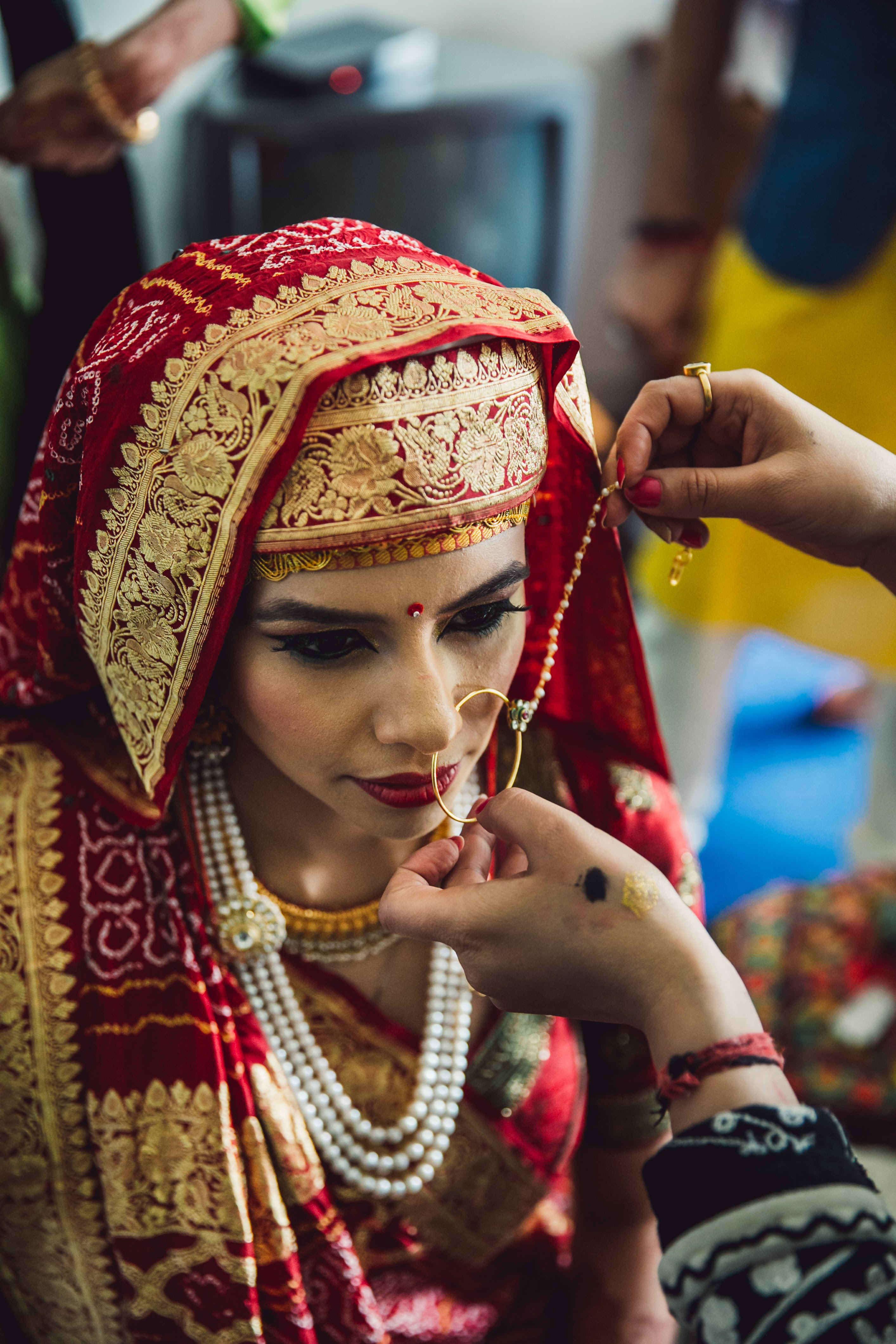 bride nose ring:nikhil kapur photography