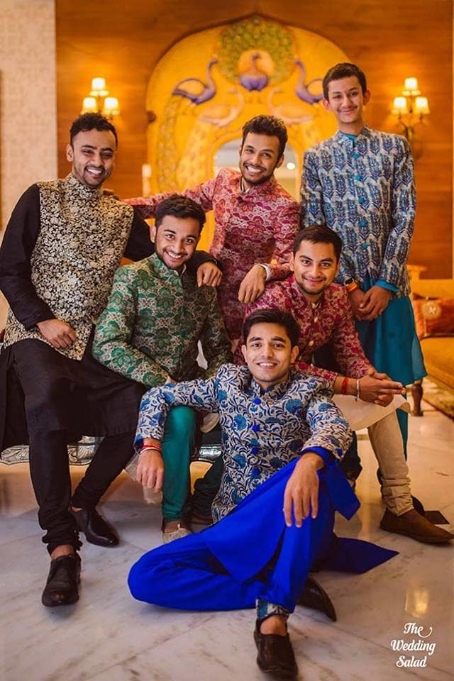 the perfect groupfie!:the wedding salad, sabyasachi couture pvt ltd