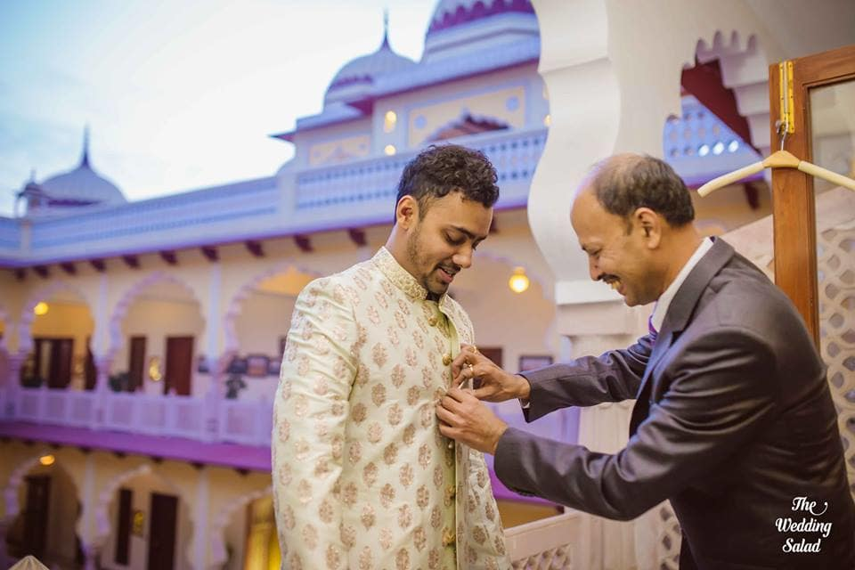 the groom tuhin!:the wedding salad, sabyasachi couture pvt ltd