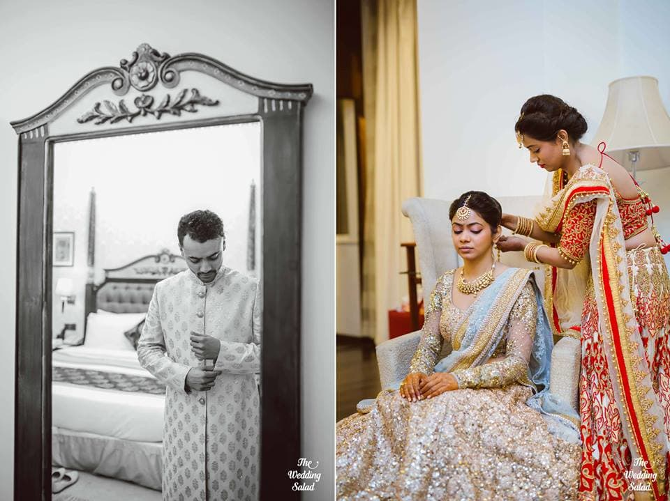 the perfect soulmates!:the wedding salad, sabyasachi couture pvt ltd