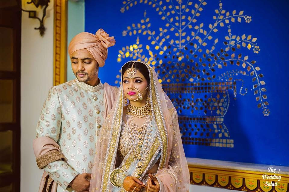 the royal couple!:the wedding salad, sabyasachi couture pvt ltd