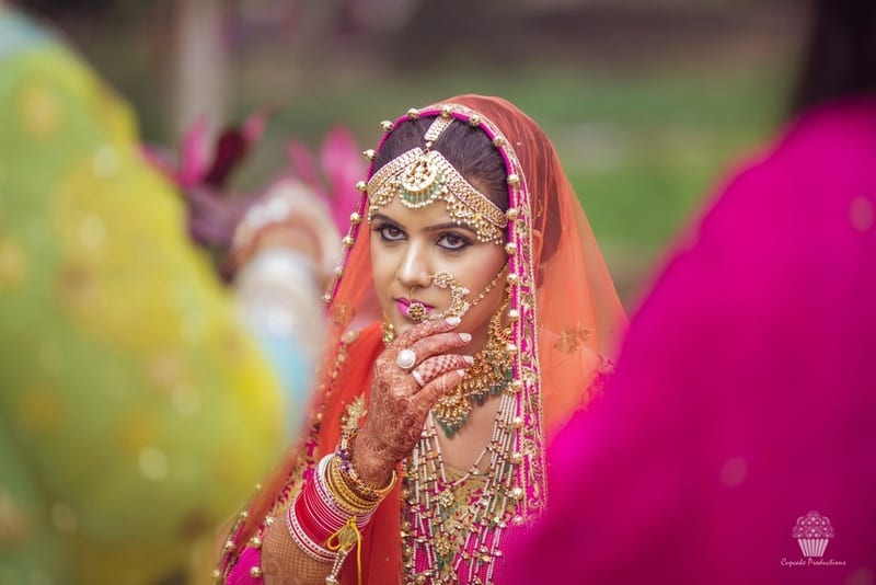 the bride amreen!:hazoorilal jewellers, cupcake productions, jagdish jewellers, stallone manor, hyatt regency ludhiana, aarushi oswal makeup artist, prerna khullar makeup artist, stitch by sarab khanijou, rimple and harpreet narula couture, dolly j