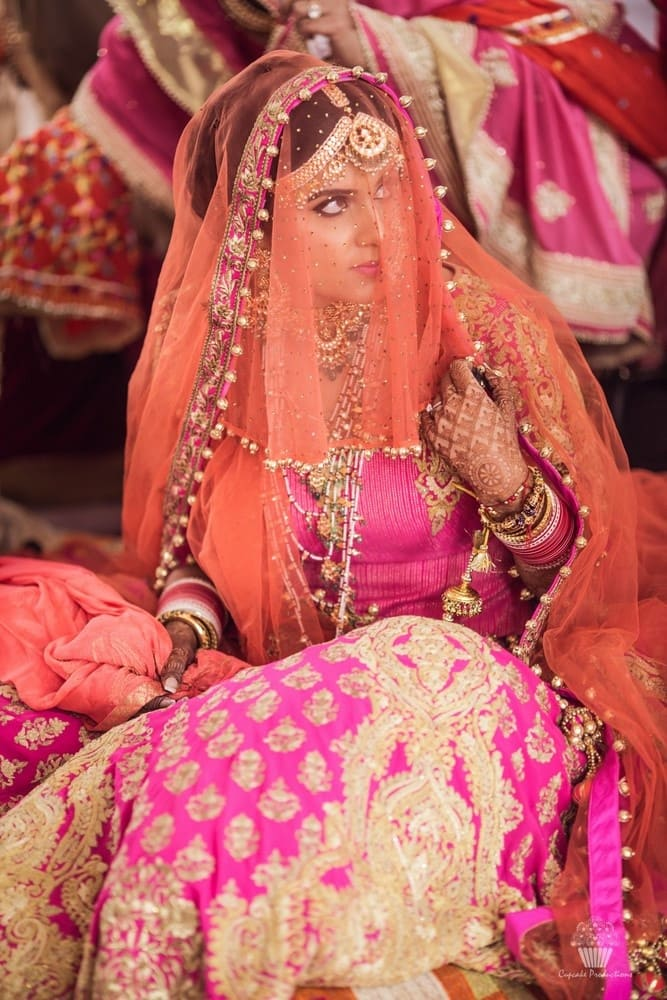 the bride!:hazoorilal jewellers, cupcake productions, jagdish jewellers, stallone manor, hyatt regency ludhiana, aarushi oswal makeup artist, prerna khullar makeup artist, stitch by sarab khanijou, rimple and harpreet narula couture, dolly j