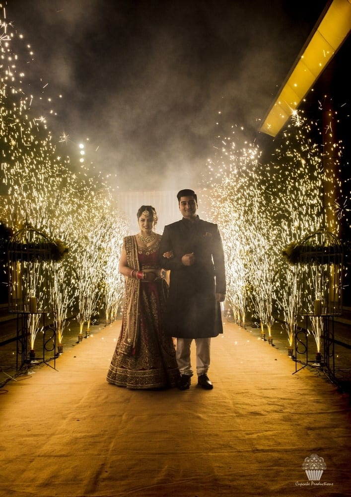 the perfect couple!:hazoorilal jewellers, cupcake productions, jagdish jewellers, stallone manor, hyatt regency ludhiana, aarushi oswal makeup artist, prerna khullar makeup artist, stitch by sarab khanijou, rimple and harpreet narula couture, dolly j