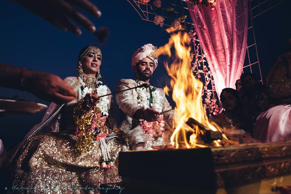 the wedding ceremony!:karan sidhu photography, daniel bauer makeup and hair, tarun tahiliani, anuj madaan couture, purple tree event solutions