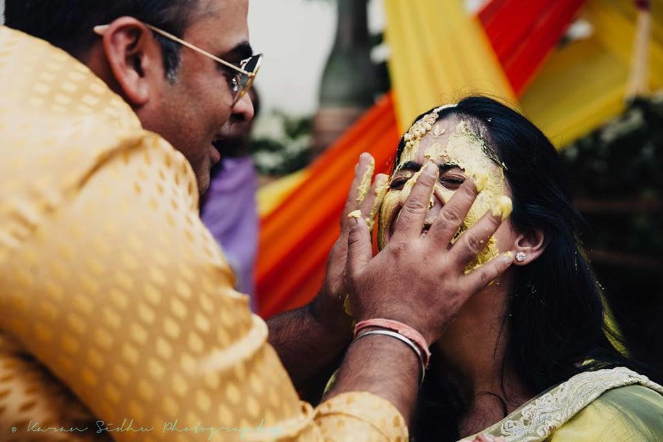 the haldi ceremony!:karan sidhu photography, daniel bauer makeup and hair, tarun tahiliani, anuj madaan couture, purple tree event solutions