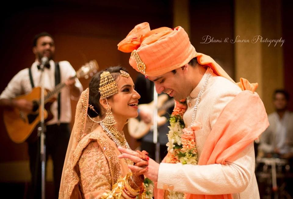 made for each other!:kundan mehandi art, taj palace, bhumi and simran photography, makeup by simran kalra, shweta poddar photography, anoo flower jewellery, abhinav bhagat events