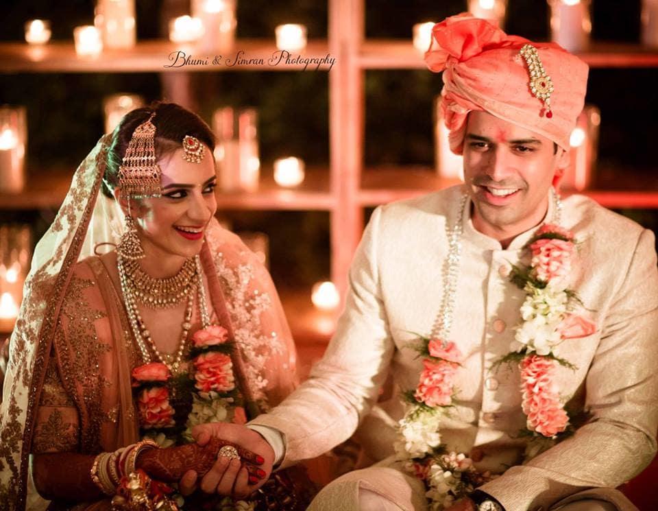 the perfect couple!:kundan mehandi art, taj palace, bhumi and simran photography, makeup by simran kalra, shweta poddar photography, anoo flower jewellery, abhinav bhagat events