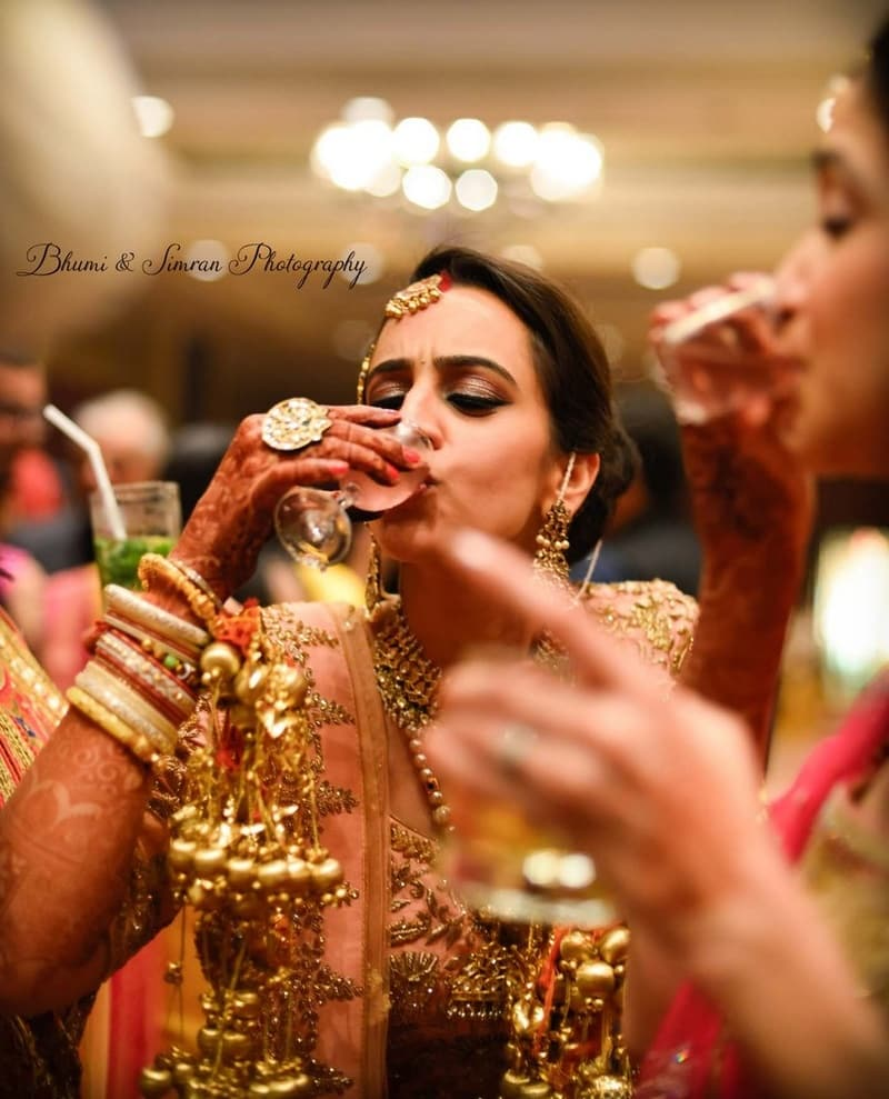 the bride tanya!:kundan mehandi art, taj palace, bhumi and simran photography, makeup by simran kalra, shweta poddar photography, anoo flower jewellery, abhinav bhagat events