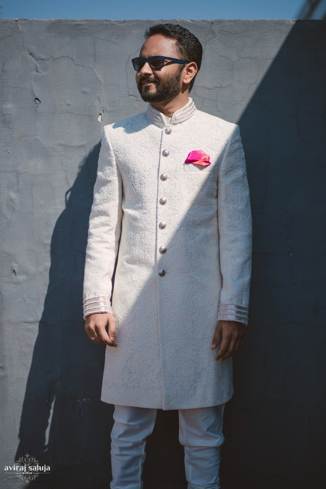 the groom!:just men just kidding, aviraj saluja, sabyasachi couture pvt ltd