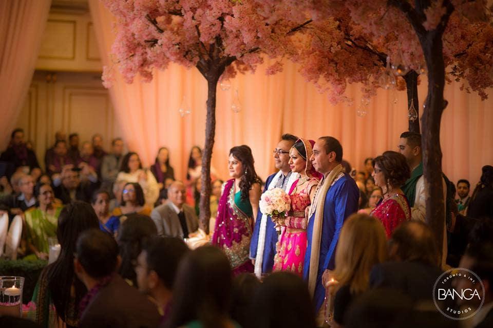 the grand bride entry!:banga studios