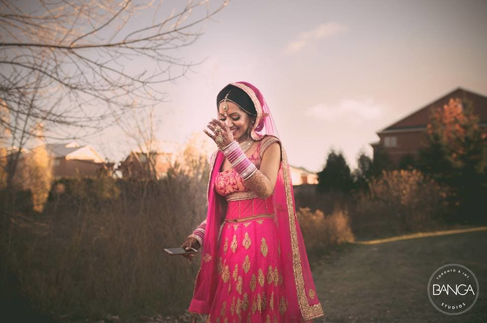 beautiful indian bride!:banga studios
