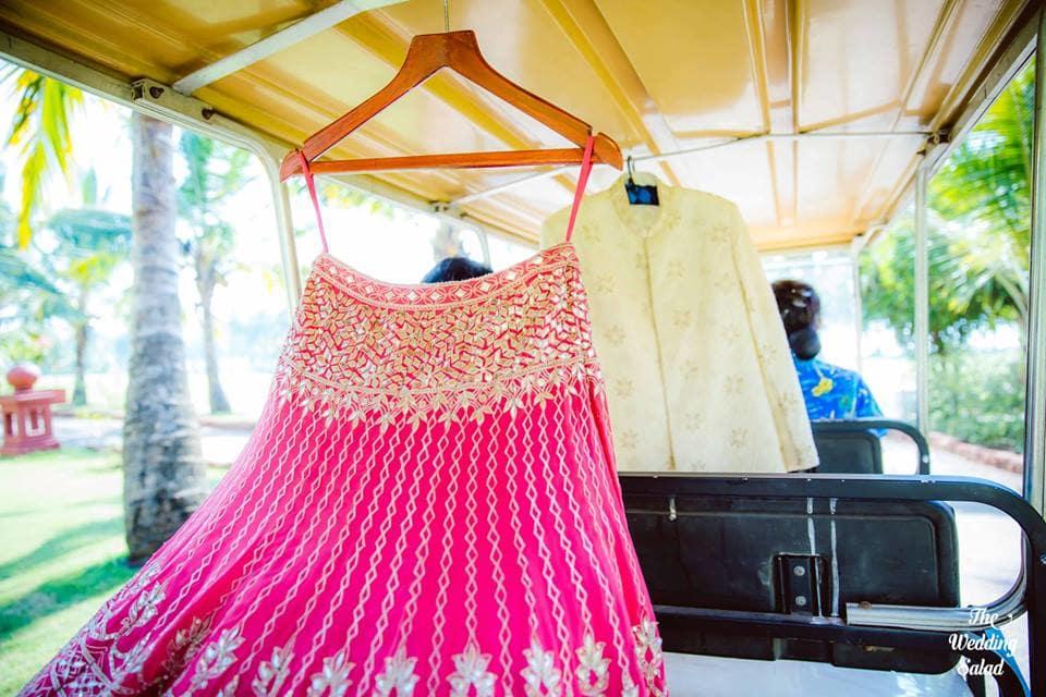 the stunning outfits!:priyal prakash house of design, the wedding salad, manish malhotra, anita dongre, gaurav gupta designer