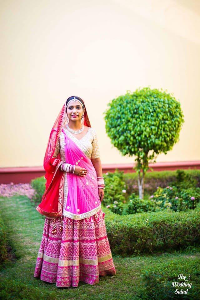 the stunning bride!:priyal prakash house of design, the wedding salad, manish malhotra, anita dongre, gaurav gupta designer