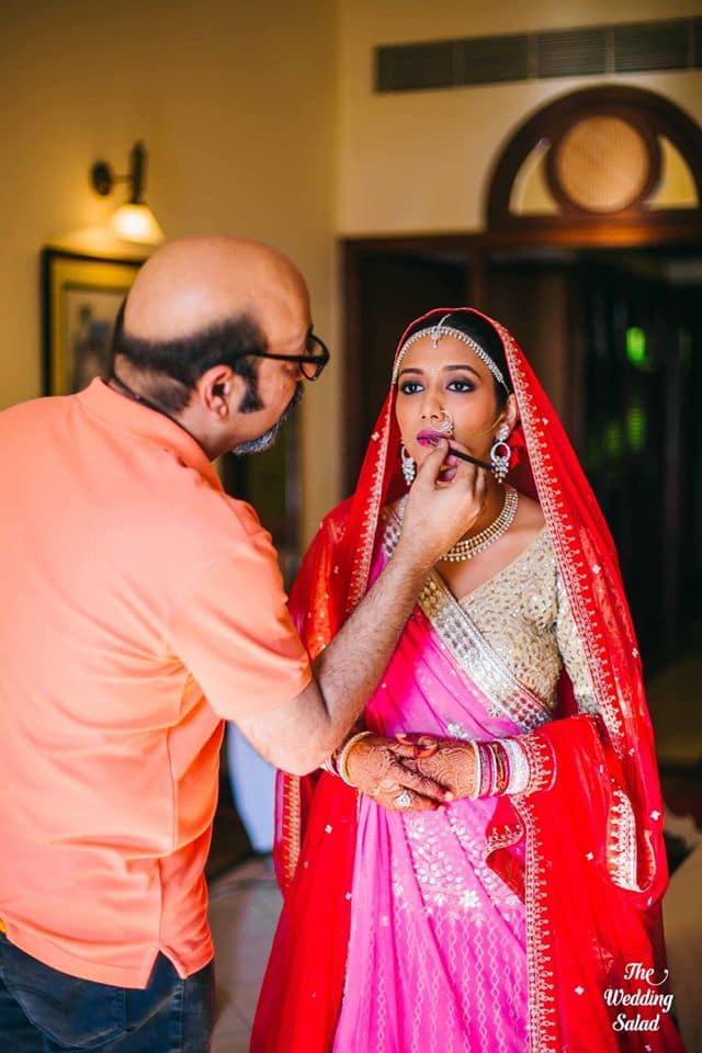 the bride looking ethereal!:priyal prakash house of design, the wedding salad, manish malhotra, anita dongre, gaurav gupta designer