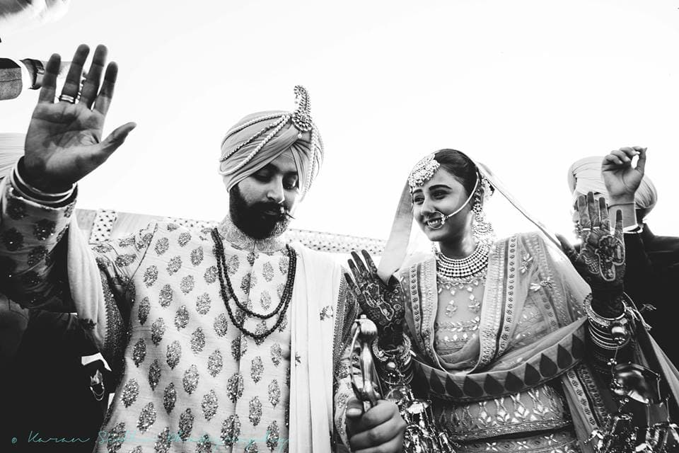 the bride & groom!:karan sidhu photography