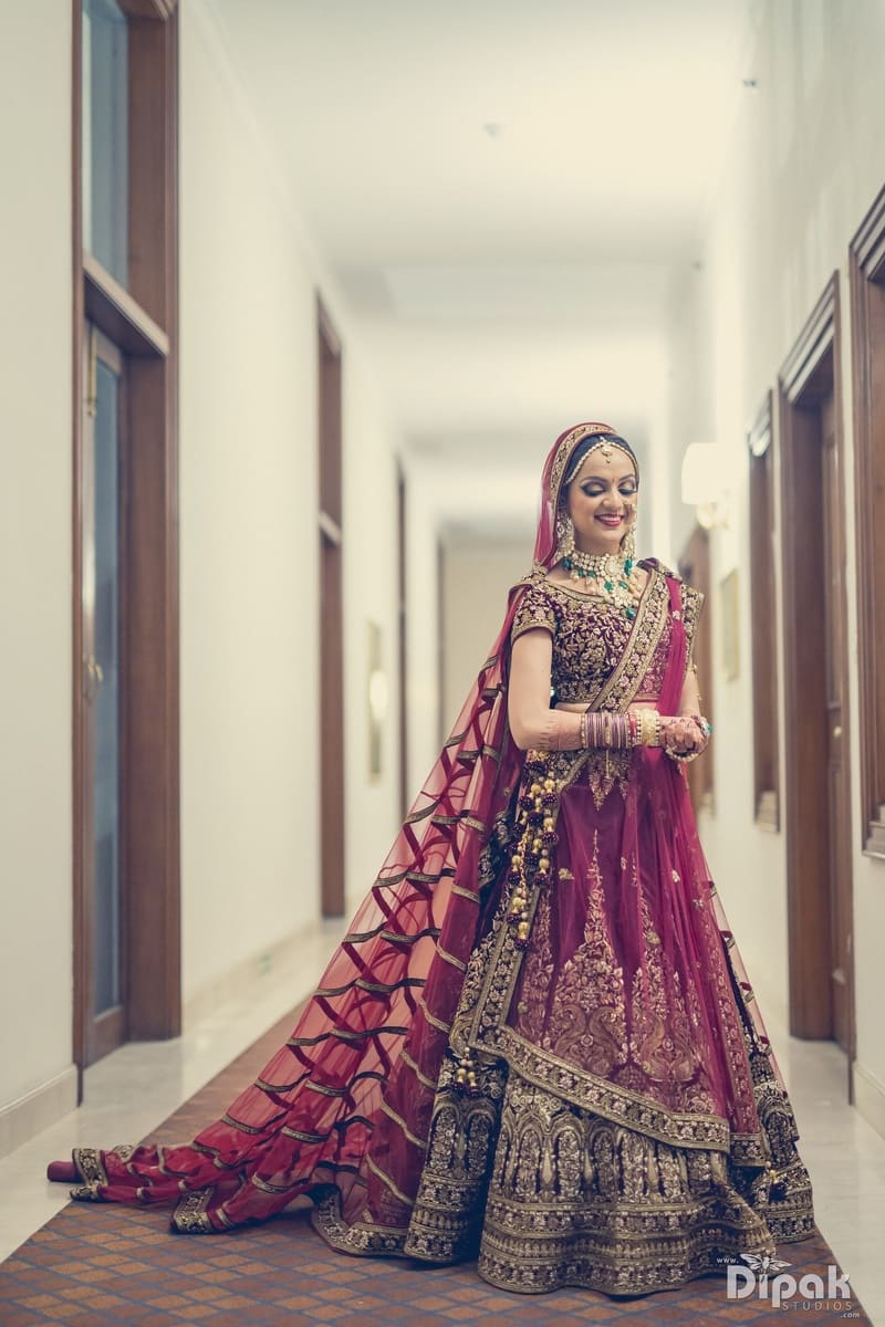 the gorgeous bride!:dipak studios wedding photography