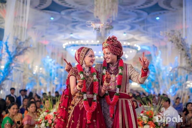 the bride & groom!:dipak studios wedding photography