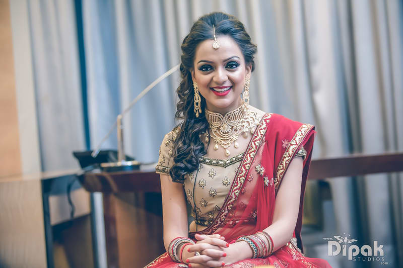 the bride!:dipak studios wedding photography