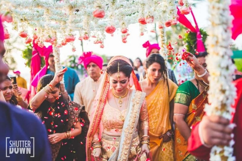 the pretty bride!:shutterdown photography, sakshi sood makeup artist and hair stylist