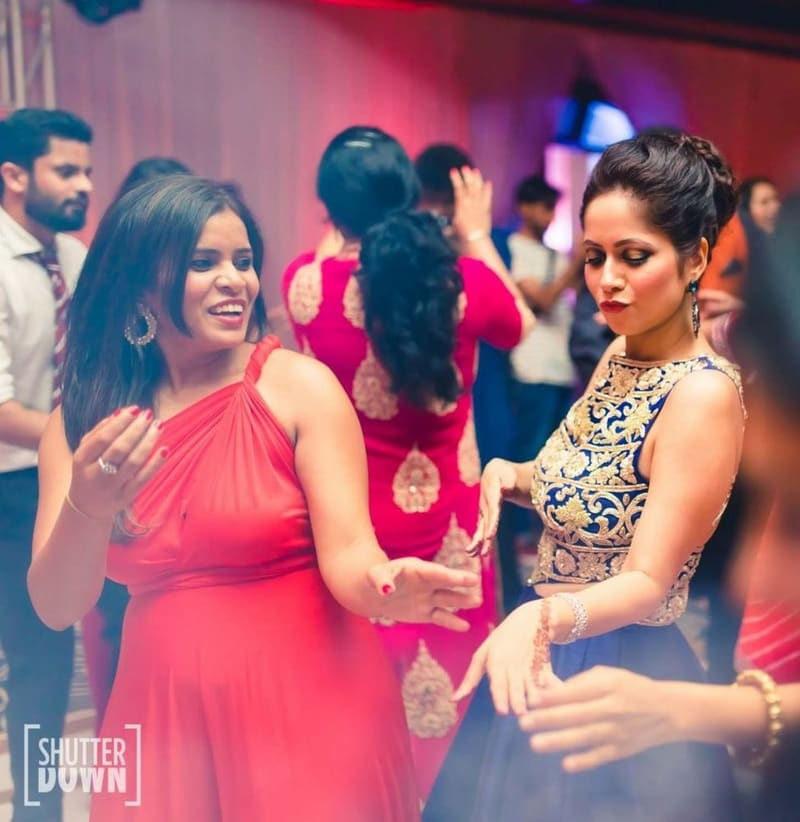 the sangeet ceremony!:shutterdown photography, sakshi sood makeup artist and hair stylist