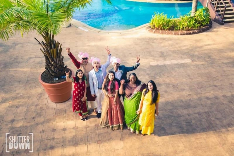 the grand destination wedding!:shutterdown photography, sakshi sood makeup artist and hair stylist