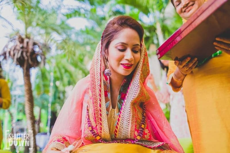 the bride charasmita!:shutterdown photography, sakshi sood makeup artist and hair stylist