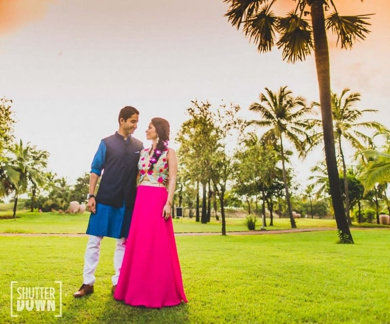 the lovebirds!:shutterdown photography, sakshi sood makeup artist and hair stylist