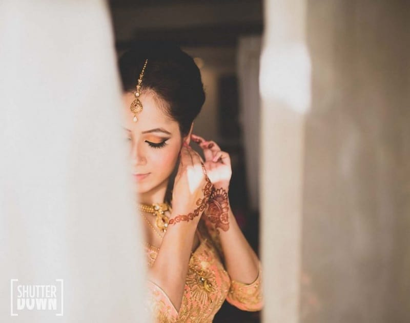 the beautiful bride!:shutterdown photography, sakshi sood makeup artist and hair stylist