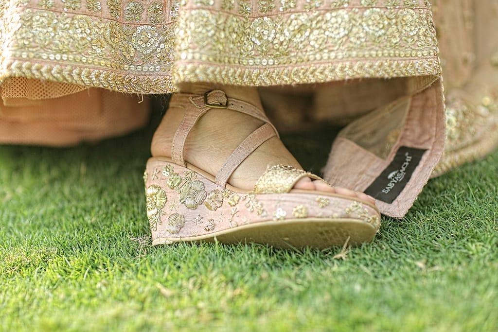 the bridal footwear!:tarun tahiliani, rajkamal studio, jasmeet kapany hair and makeup