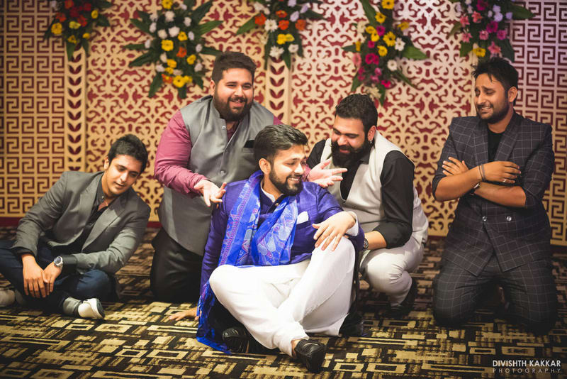 the groom & gang!:pakeeza plaza, divishth kakkar photography
