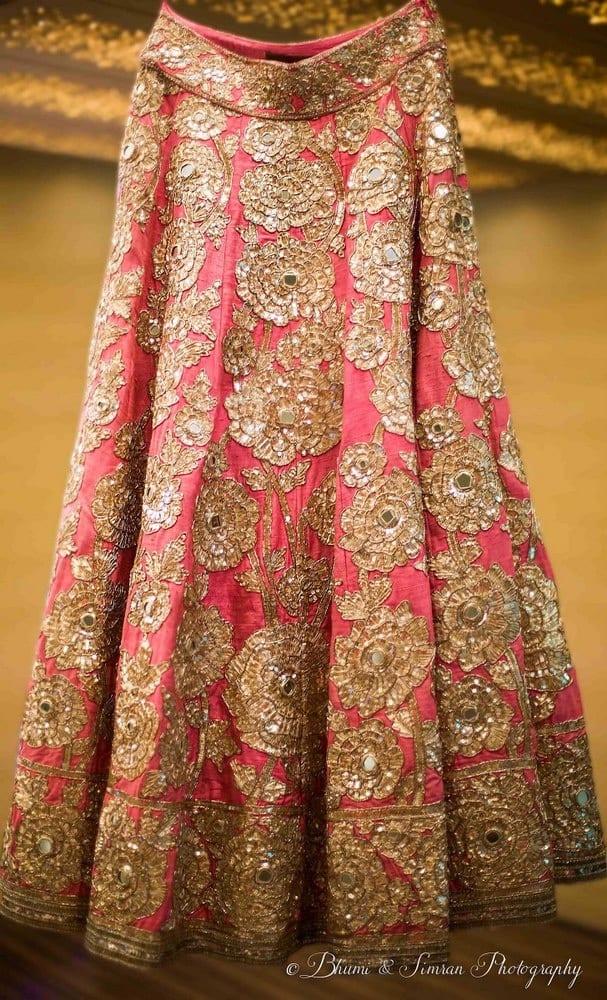 the bridal lehenga!:shri ram hari ram jewellers, hyatt regency delhi, taj palace, bhumi and simran photography, manish malhotra, elements decor, anu kaushik makeup artist, shantanu and nikhil, sabyasachi couture pvt ltd
