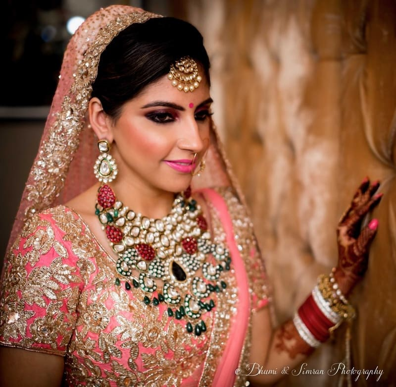 the bride sanam!:shri ram hari ram jewellers, hyatt regency delhi, taj palace, bhumi and simran photography, manish malhotra, elements decor, anu kaushik makeup artist, shantanu and nikhil, sabyasachi couture pvt ltd