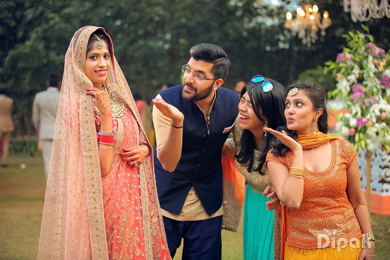 the bride suktiti!:rakyans fine jewellery, dipak studio and colour lab pvt ltd, saltt catering, house of design, sabyasachi couture pvt ltd, devika sakhuja