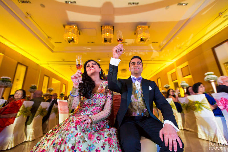 the perfect couple!:the oberoi, going bananas photography, shruti sharma makeup artist, sabyasachi couture pvt ltd