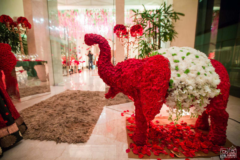 the wedding decoration!:the oberoi, going bananas photography, shruti sharma makeup artist, sabyasachi couture pvt ltd