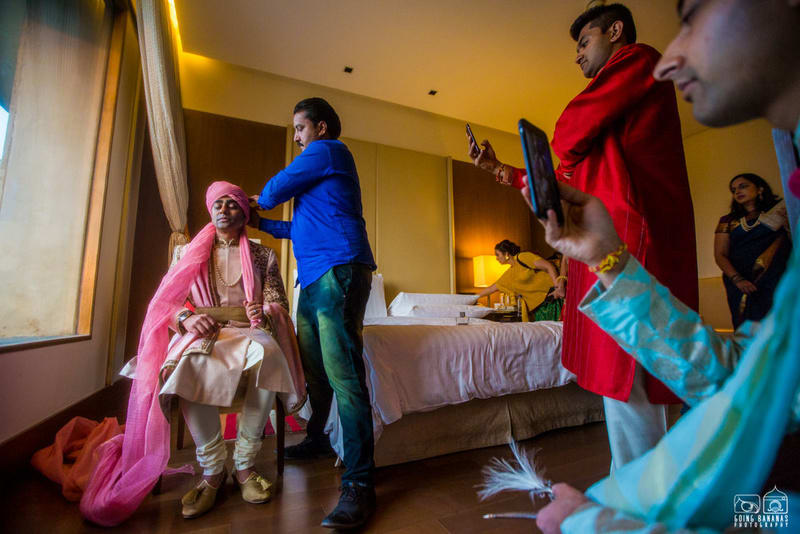 the groom!:the oberoi, going bananas photography, shruti sharma makeup artist, sabyasachi couture pvt ltd