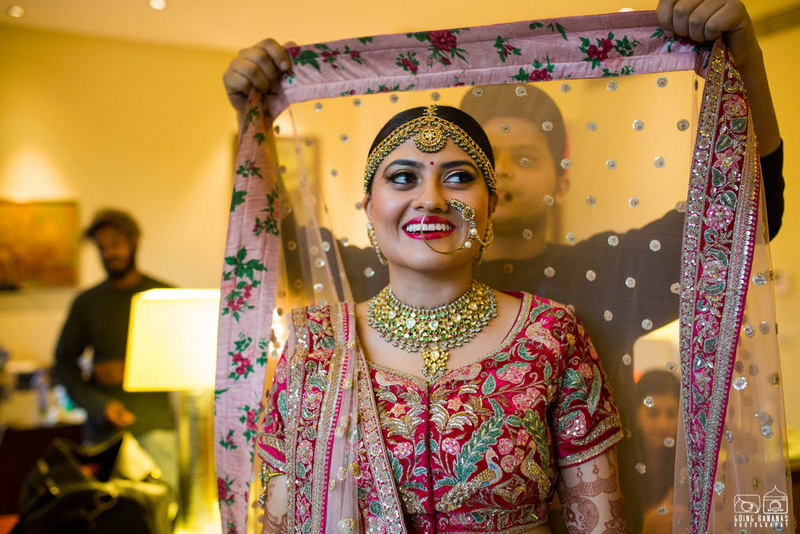 the bride kunali!:the oberoi, going bananas photography, shruti sharma makeup artist, sabyasachi couture pvt ltd