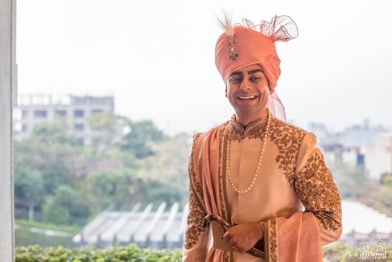 the handsome groom!:the oberoi, going bananas photography, shruti sharma makeup artist, sabyasachi couture pvt ltd