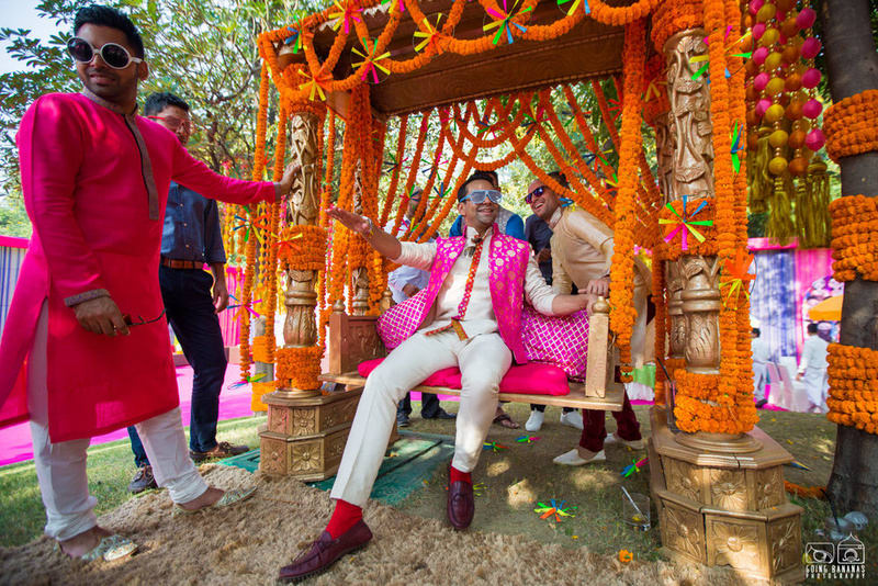 the groom shreekant!:the oberoi, going bananas photography, shruti sharma makeup artist, sabyasachi couture pvt ltd
