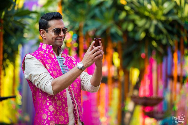 the groom shreekant!:the oberoi, going bananas photography, shruti sharma makeup artist, sabyasachi couture pvt ltd