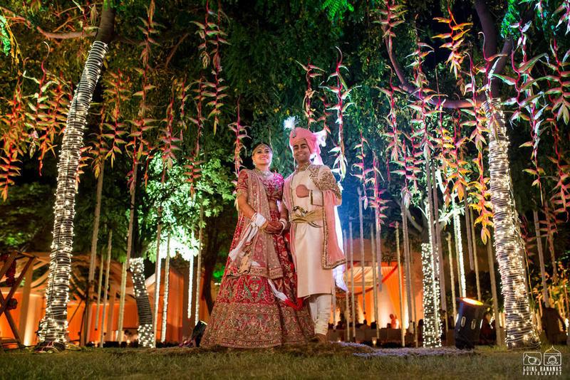 the newly weds!:the oberoi, going bananas photography, shruti sharma makeup artist, sabyasachi couture pvt ltd