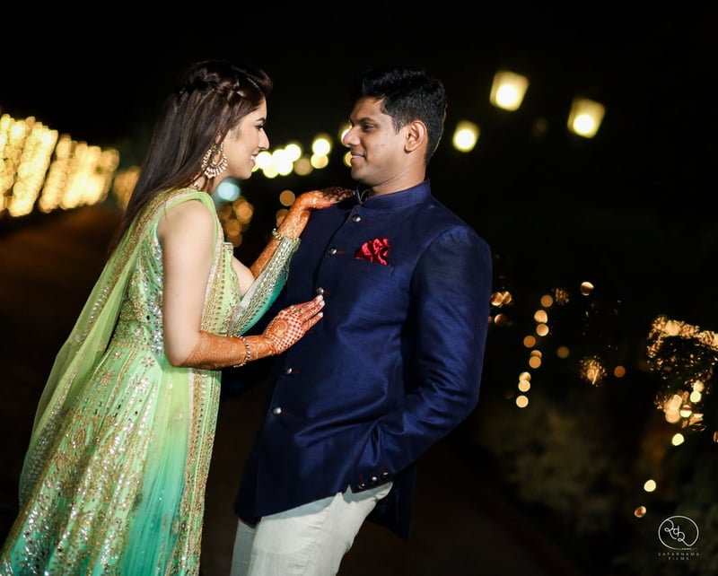 the perfect couple!:country inn and suites, lakshya manwani photography, om parkash jawahar lal, isha khanna makeup artist