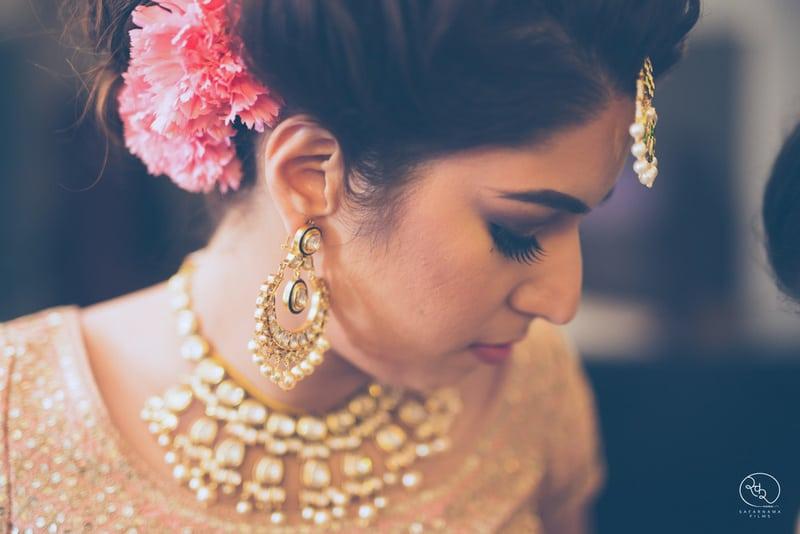 the charming bride!:country inn and suites, lakshya manwani photography, om parkash jawahar lal, isha khanna makeup artist