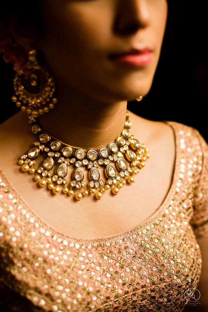 the wedding jewels!:country inn and suites, lakshya manwani photography, om parkash jawahar lal, isha khanna makeup artist