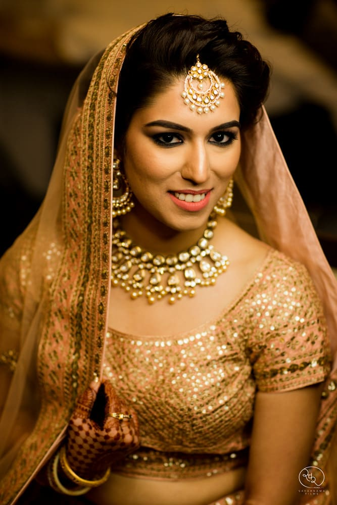 the bride sanjana!:country inn and suites, lakshya manwani photography, om parkash jawahar lal, isha khanna makeup artist
