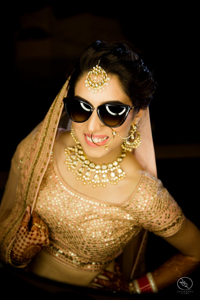 the stunner bride!:country inn and suites, lakshya manwani photography, om parkash jawahar lal, isha khanna makeup artist