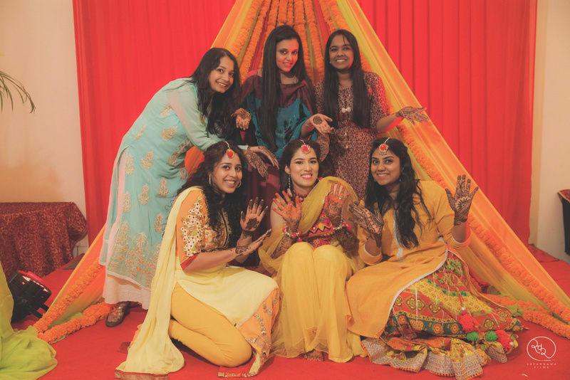 the mehandi ceremony!:country inn and suites, lakshya manwani photography, om parkash jawahar lal, isha khanna makeup artist