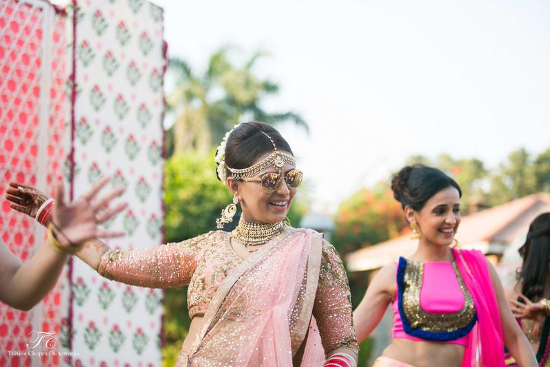 the stunning bride!:tuhina chopra photoworks, the powder room, anita dongre