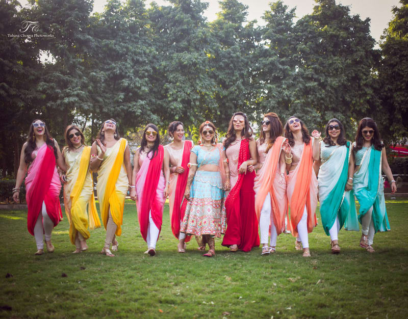 the bride squad!:tuhina chopra photoworks, the powder room, anita dongre